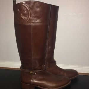 "0f3428294db TORY BURCH ""Marlene"" leather riding boots (9.5M)"